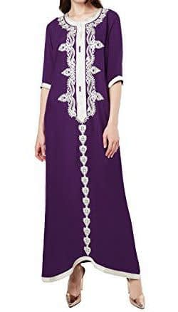 arabic style maxi Kaftan dresses And Embroidered Dress Suppliers