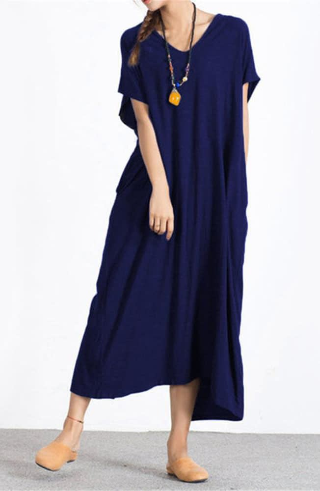 Short Sleeves Maxi Dress Manufacturers